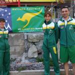 Sant Moritz and their banner for Australia