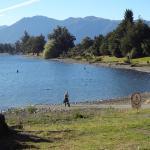 Lake as we walked to bird park