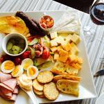 The Ploughman's platter and salad at Adamo