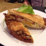 Breakfast sandwich with Gruyere