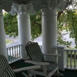 The porch on the terrace outside the suite