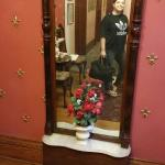 The diamond dust mirror (one must stand close to see the iridescence!)