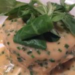 Crab lasagne