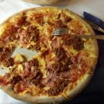 Ham and Bolognese Pizza