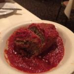 Meatball with red sauce