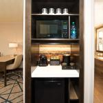 Your suite convenience center includes a refrigerator, microwave and coffee service