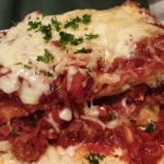 Rigatony's with meatball and lasagna!