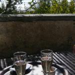 Champagne sur la terrasse