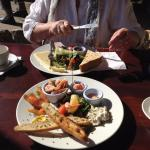 Seafood Platter and Ploughman's Lunch