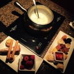 White Chocolate Fondue Dessert
