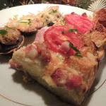 Potato Poppers with Baked Tomato Ham Quiche