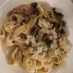 Pappardelle Pasta with Pulled Pork and Wild Mushrooms