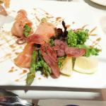 Salmon wrapped asparagus