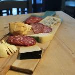 cheese and salami board