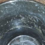 This is the inside of my coffee cup with coffee maker.
