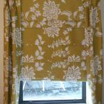 Curtains come down not in from side to side