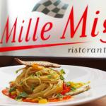 Spaghetti with bell peppers, sardines with pesto of anchovies and capers