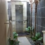 Outdoor shower in bathroom - very private
