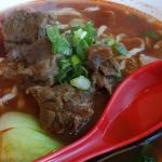 Beef noodle in tomato soup!