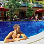 Sebastien enjoying the pool at Spartacvs, Seminyak in Bali
