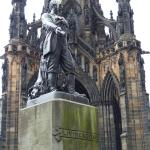 Sir Walter Scott Memorial with David Livingston Statue