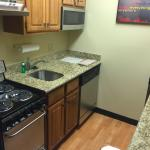 Kitchen with new appliances.