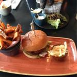 Ultimate bbq burger and lamb kofta