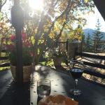 Happy Hour on the veranda in the setting sun