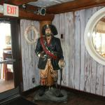 Blackbeard in the Pirate's Cove Bar and Lounge