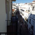 View down the street from balcony