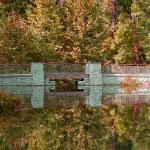 Bridge over the far side of Dogwood Pond
