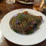 tuna steak cooked to perfection!