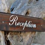 The sign to the reception