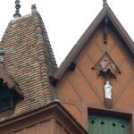 Detalle del techo con una virgen