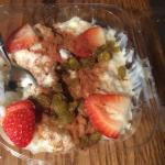 Rice pudding takeout - yum!