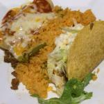 Speedy Gonzales (Taco, enchilada & Mexican rice)