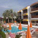 hotel in morning sun