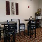 Lake Cove's morning breakfast nook. We serve a continental breakfast daily 5am-9am.