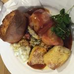 Lovely roast dinner and side of veg but didn't include that picture and the 2 Childrens meals