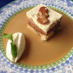 dessert 3 chocolats avec crême café