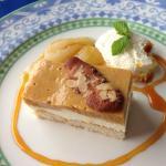 dessert caramel poires