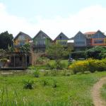 Vanuit de tuin aan Lake Victoria