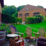 outdoor seating near vineyard