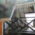 Het balkon en uitkijkpunt van Theo