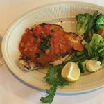 Grilled swordfish at San Nicola.