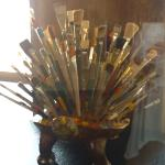 Bouquet of paint brushes!