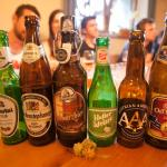 The 5 beers we tried at the beer tasting - one of them even got heated up.... crazy but cool!