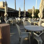 Patio seating area