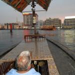 Возле отеля катались на лодке по Персидскому заливу