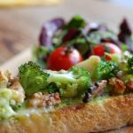 Brocolli & Walnut bruschetta